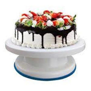cake rotatable tray