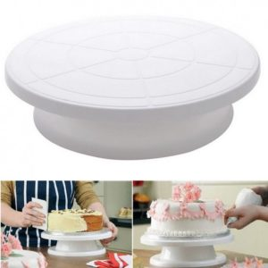 cake decorating rotating stand