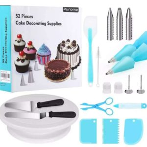cake turnable stand full set